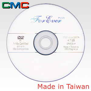 ForEver Plus DVD-R 4.7GB 16x White Taiwan Made by CMC Magnetics