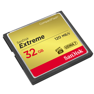 SanDisk Extreme CompactFlash 32GB | SDCFXSB-032G