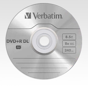 Verbatim DVD+R DL 8.5GB 8x Silver Mat