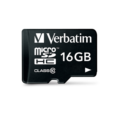 Verbatim Premium microSDHC with adapter 16GB Class 10 - 44082