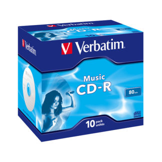 Verbatim CD-R Audio 80min 16x Jewel Case 10mm - 43365