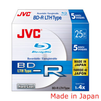 Taiyo Yuden/JVC Hard Coat BD-R LTH 25GB 6x Slim Case 5mm Japan Made