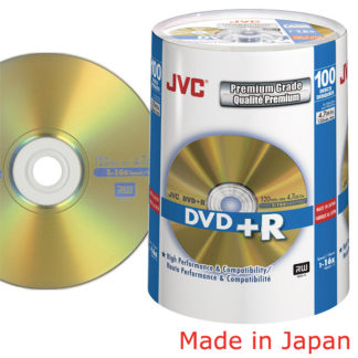 Taiyo Yuden/JVC DVD+R 4.7GB 16x Gold Cakebox 100 Japan Made