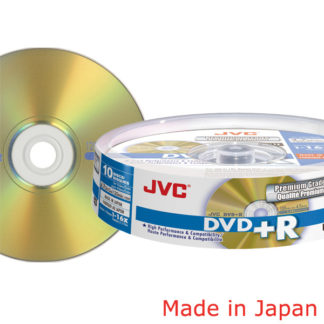 Taiyo Yuden/JVC DVD+R 4.7GB 16x Gold Cakebox 10 Japan Made