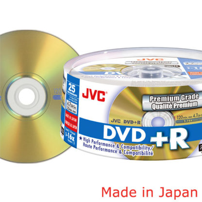Taiyo Yuden/JVC DVD+R 4.7GB 16x Gold Cakebox 25 Japan Made