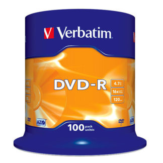Verbatim DVD-R 4.7GB 16x Silver Mat Cakebox 100 - 43549
