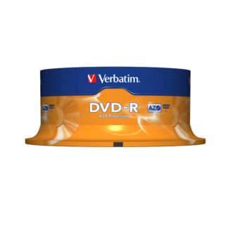Verbatim DVD-R 4.7GB 16x Silver Mat Cakebox 25 - 43522