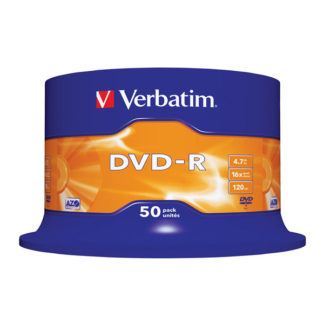 Verbatim DVD-R 4.7GB 16x Silver Mat Cakebox 50 - 43548