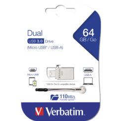 Verbatim OTG Micro USB 3.0 Drive 64GB | Metal - 49827