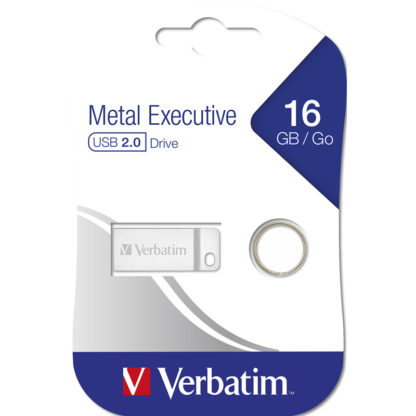 Verbatim Metal Executive USB Drive 16GB | Metal - 98748