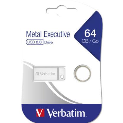 Verbatim Metal Executive USB Drive 64GB | Metal - 98750