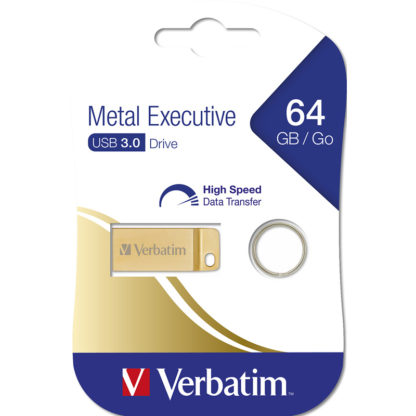 Verbatim Metal Executive USB 3.0 Drive 64GB | Gold - 99106