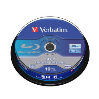 Verbatim BD-R 25GB 6x Cakebox 10 - 43742