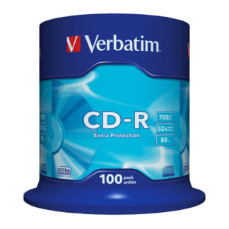 Verbatim Extra Protection CD-R 700MB 52x Cakebox 100 - 43411
