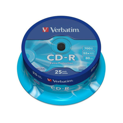 Verbatim Extra Protection CD-R 700MB 52x Cakebox 25 - 43432