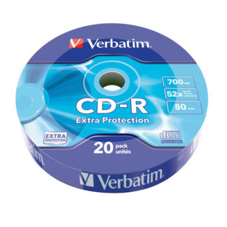 Verbatim Extra Protection CD-R 700MB 52x Wrap 20 - 43784