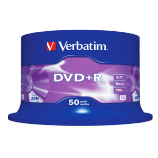 Verbatim DVD+R 4.7GB 16x Silver Mat Cakebox 50 - 43550