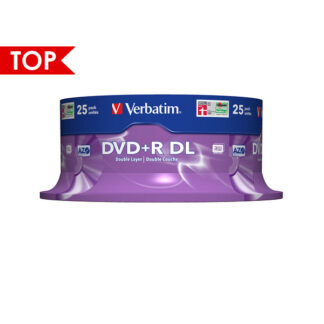 Verbatim DVD+R DL 8.5GB 8x Silver Mat Cakebox 25 - 43757