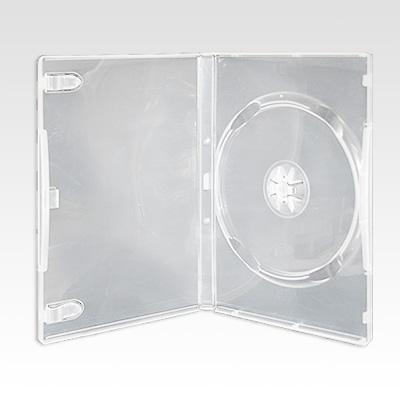 Πλαστική Θήκη DVD 14mm Ημιδιάφανη Μονή