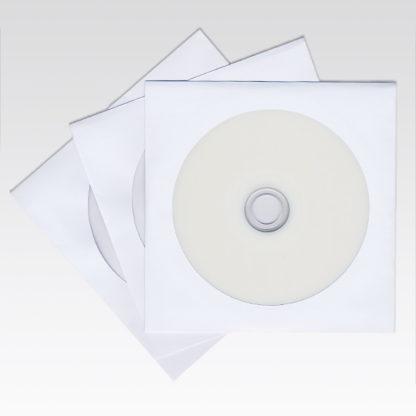 Φάκελος Χάρτινος Λευκός 120γρ. για CD/DVD με Παράθυρο