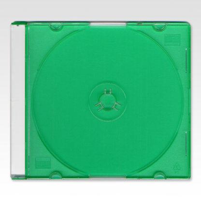 Πλαστική Θήκη CD Slim 5.2mm Πράσινη Μονή