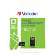 Verbatim Tablet microSDHC with USB Card Reader 16GB Class 10/UHS-I - 44058