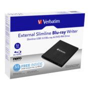 Verbatim External Slimline USB 3.0 Blu-ray Writer   43890