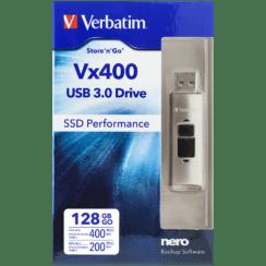 Verbatim Vx400 USB 3.0 Drive 128GB | 47690