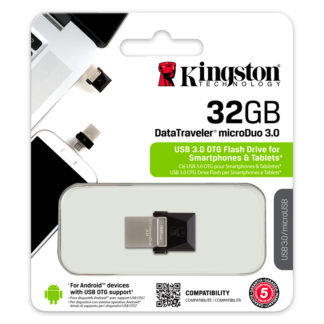 Kingston DataTraveler microDuo (OTG) USB 3.0 Drive 32GB | DTDUO3/32GB