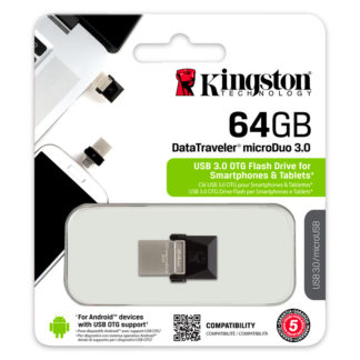 Kingston DataTraveler microDuo (OTG) USB 3.0 Drive 64GB | DTDUO3/64GB