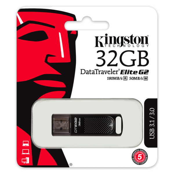 Kingston DataTraveler Elite G2 USB 3.0 Drive 32GB | DTEG2/32GB