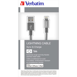 Verbatim Lightning Sync & Charge Cable 100cm Grey | 48860