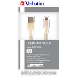 Verbatim Lightning Sync & Charge Cable 100cm Gold | 48861