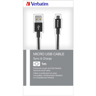 Verbatim Micro USB Cable Sync & Charge 100cm Black | 48863