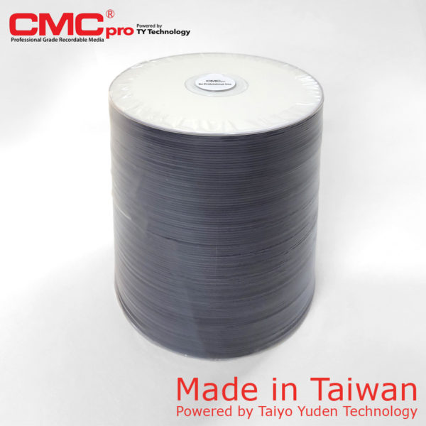 CMC Pro DVD-R 4.7GB 16x Full Face Printable Spindle 100 Taiwan Made Powered by Taiyo Yuden Technology