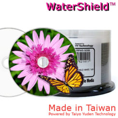 CMC Pro DVD-R 4.7GB 16x WaterShield Full Face Printable Cakebox 50 Taiwan Made Powered by Taiyo Yuden Technology