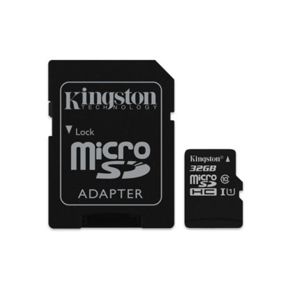 Kingston Canvas Select microSDHC with adapter 32GB Class 10/UHS-I | SDCS/32GB