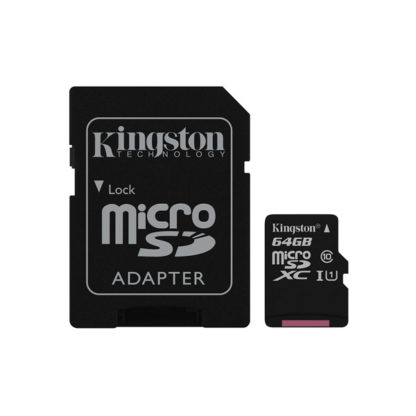 Kingston Canvas Select microSDXC with adapter 64GB Class 10/UHS-I   SDCS/64GB