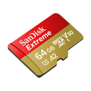 SanDisk Extreme microSDXC with adapter 64GB V30 A2 | SDSQXA2-064G-GN6MA