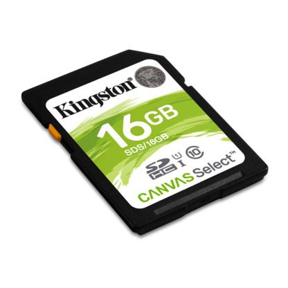 Kingston Canvas Select SecureDigital SDHC 16GB Class 10/UHS-I | SDS/16GB