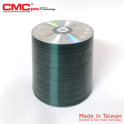 CMC Pro CD-R 700MB 48x Shiny Silver Spindle 100 Taiwan Made Powered by Taiyo Yuden Technology