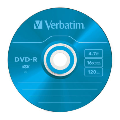 Verbatim Blue DVD-R 4.7GB 16x Slim Case 5mm – 43557