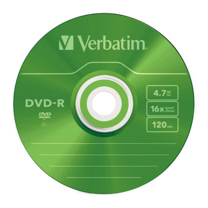 Verbatim Green DVD-R 4.7GB 16x Slim Case 5mm – 43557