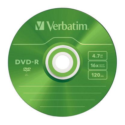 Verbatim Green DVD-R 4.7GB 16x Slim Case 5mm – 43557