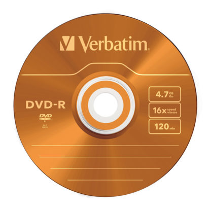 Verbatim Orange DVD-R 4.7GB 16x Slim Case 5mm – 43557