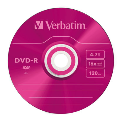 Verbatim Pink DVD-R 4.7GB 16x Slim Case 5mm – 43557