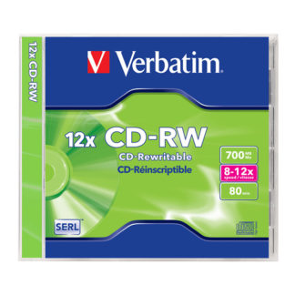 Verbatim CD-RW 700MB 12x Jewel Case 10mm – 43147