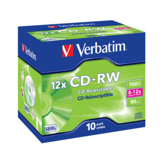 Verbatim CD-RW 700MB 12x Jewel Case 10mm – 43148