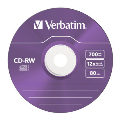 Verbatim Purple CD-RW 700MB 12x Slim Case 5mm – 43167