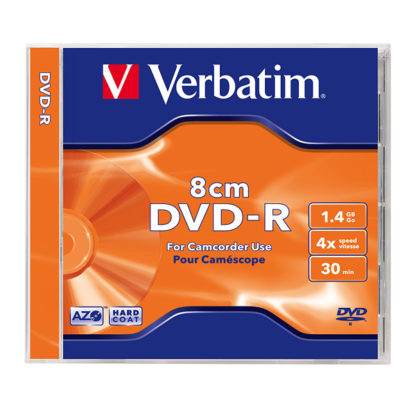 Verbatim DVD-R 8cm 1.4GB 4x Silver Mat Jewel Case 10mm – 43509